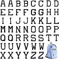 アイロン接着レターパッチ アルファベットアップリケパッチまたは縫い付けアップリケ 刺繍パッチ付き A~Zレターバッジ 装飾修理パッチ 帽子 シャツ 靴 ジーンズ バッグ用 52 Pieces Boao-Alphabet Applique Patches-01