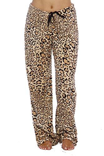 Just Love - Pijama de peluche para mujer, tamaño pequeño a grande, Leopard, 3X Plus