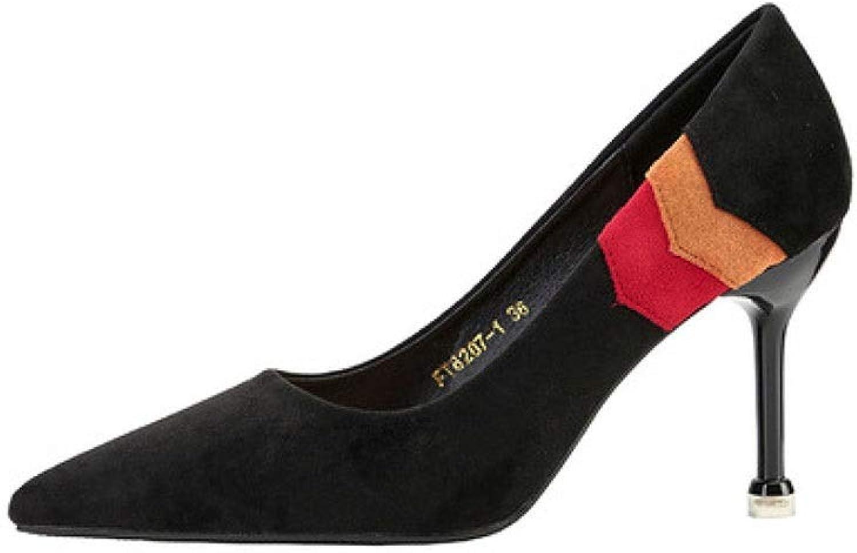 CBDGD High Heel Quality Material Women's Simple Fashion Temperament Work shoes High Heels Sandals High Heels 8.5CM High Heels (color   Black, Size   EU39 UK6 CN39)