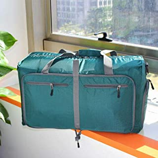 FidgetGear On Shoulder Duffle Bag Large Foldable Travel Storage Luggage Gym Weekender Carry Green One Size