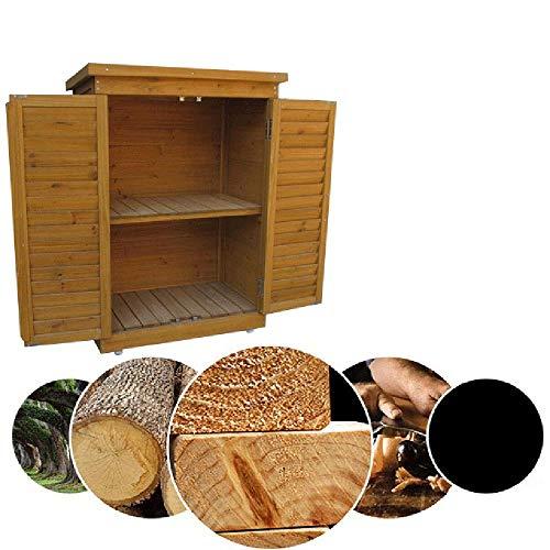 Bels Gartenschrank FüR Den AußEnbereich Holz, AußEnterrassenschrank Wasserdichtes Schrank Box Gartenbalkon (690 * 430 * 960mm)
