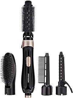 Curling cepillo Set Hair curler secador secador de pelo 4 en 1 Blow plancha de pelo de cerámica turmalina anti-scald cepillo de aire Styler 600W