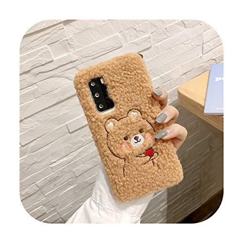 Custodia in peluche con orso di coniglio per Samsung Galaxy S20 FE Ultra S10 Lite 5G S9 S8 Plus S7 S6 S5 S4 S3 Mini J3 J4 J8 2018 - Cioccolato-per S3 MINI