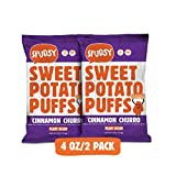 Sweet Potato Puffs by Spudsy | Gluten-free & Vegan | Allergen-free, Non-GMO, Superfood Snack (Crunchy Cinnamon Churro, 2 PACK)
