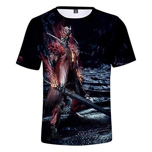CCTXUE Camiseta T-Shirts Impresión 3D Neutro Hombres Mujeres Ventilación De Secado Rápido Suave Cuello Redondo Manga Corta Tops Deadpool S