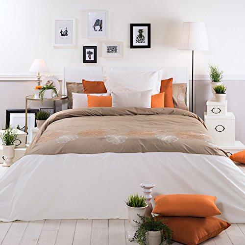 Sancarlos - Funda nórdica de diseño Sunflower Tostado - diseño Bordado - Bajera Ajustable - Varias Tallas Disponibles
