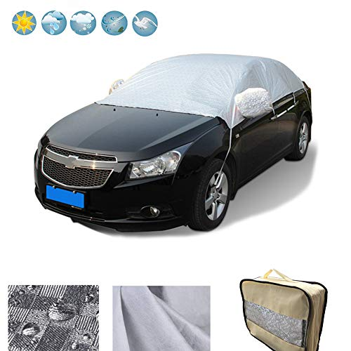 RunSnail Auto Abdeckung Winter, Frostschutz, Autoplane Schnee Regenabweisend & Windsicher Plane Windschutzscheibe Abdeckung