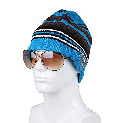 Bluetooth Beanie Headset, Wireless Stereo Microphone Headphone Winter Hat (EPA20K)