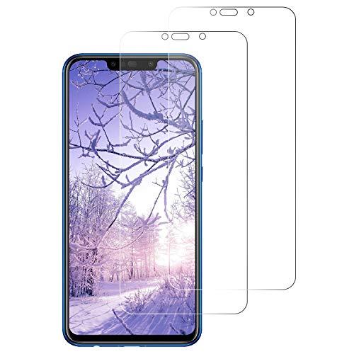 WISMURHI [2 Pezzi Vetro Temperato per Huawei P Smart Plus, Pellicola Vetro per Huawei P Smart Plus Anti-Graffio/Facile da Installare/3D Touch/9H Durezza Huawei P Smart Plus Pellicola Protettiva