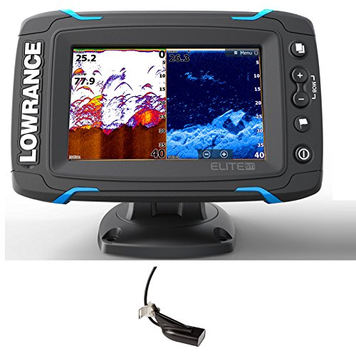 Lowrance Elite-5 Ti 000-12421-001 Fishfinder Chartplotter with Downscan Xdcr