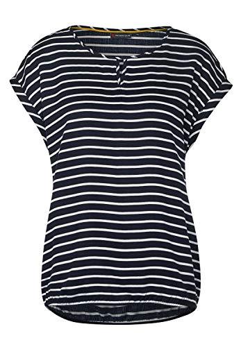 Street One Damen Bluse mit Streifen deep Blue 40