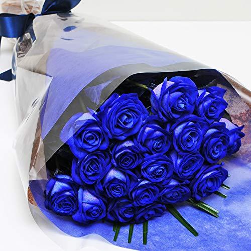 本数をお選びください 青いバラの花束 5本〜100本 神秘的なブルーローズ 奇跡の花 エーデルワイス 花工房 (20) バレンタイン花 フラワーバレンタイン