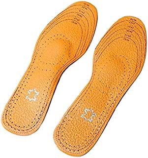 Unisex leather insoles for men and women shoes sizes EU 35-46