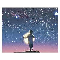 数字油絵 夜のシーンDIY油絵絵画のためのナンバーキットの絵画のための子供たちの壁の装飾のための子供たちの芸術工芸品 (Color : 2690, Size(cm) : 40x50cm no frame)