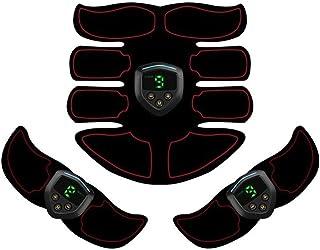 ABS刺激&筋肉トナー腹部調色ベルト&EMSボディ筋肉トレーナー脂肪バーナー機器6モード9グレード刺激強度ポータブルusb充電器 (Color : Plain weave, Size : 2B+A)