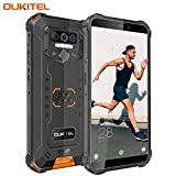 【2020】 OUKITEL WP5 Dual 4G IP68 Sólido Móvil Libre Robusto,5.5'' HD (Gorilla Glass) Militar Resistente Android 9.0 Impermeable Smartphone, 8000mAh batería,3+32GB,13+5+2+2MP Cámara,4 LED Flash (Negro)