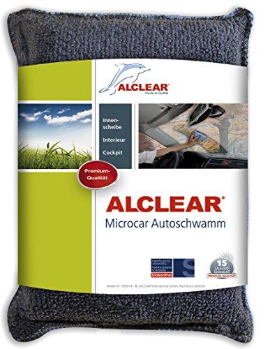 ALCLEAR 950014 Ultra-Microfaser Autoschwamm Microcar, gegen beschlagene Scheiben, Antibeschlag - Durchblick statt Unfallgefahr, anthrazit-blau