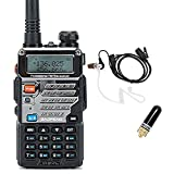 BaoFeng UV-5R Pro Dual Band Two Way Radio with 2800mAh Li-ion Battery, SRH805S Antenna and Acoustic Tube Surveillance Earphone