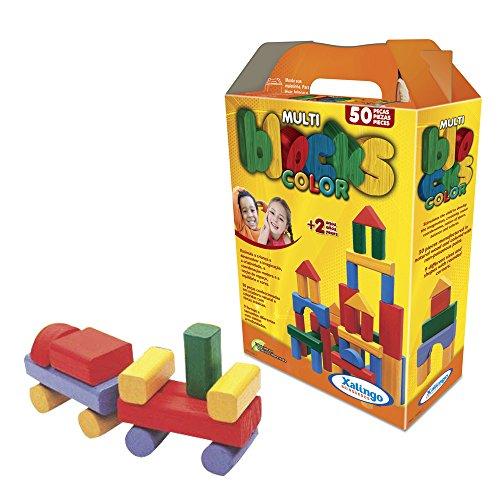 Multiblocks Colorido 50 Peças Xalingo