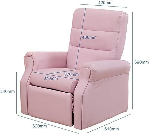 Stühle FEI Bequem Kinder Kinder Liege Liege Sessel Spiele Sofa Sitz PU (Rosa, Marineblau) Stark und langlebig (Farbe   Rosa)