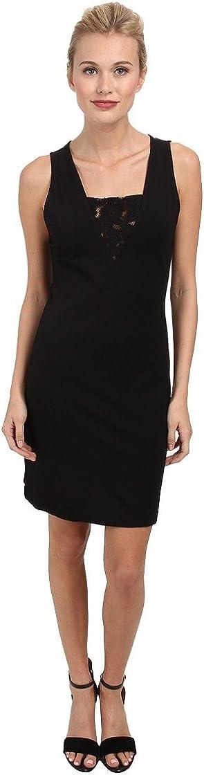 BB DAKOTA Women's Simi Lace Trim Ponte Dress