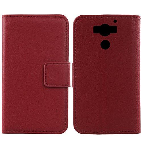 Gukas Design Echt Leder Tasche Für Archos Diamond 2 Plus 5.5