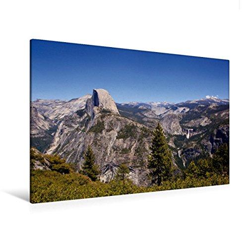 Premium Textil-Leinwand 120 x 80 cm Quer-Format Yosemite Nationalpark - Half Dome | Wandbild, HD-Bild auf Keilrahmen, Fertigbild auf hochwertigem Vlies, Leinwanddruck von Dominik Wigger