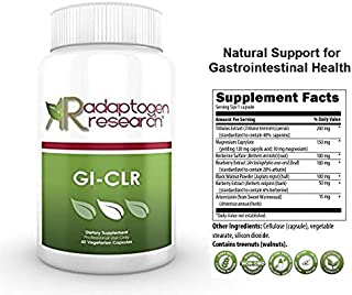 GI-CLR   Botanical Extracts of Tribulus, Berberine, Barberry  Natural GI Support, Healthy Gut Flora, Microbal Balance   60 Vegetarian Capsules   Adaptogen Research
