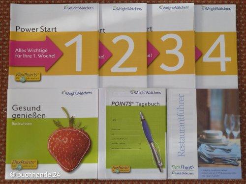 Weight Watchers SUPER FlexPoints SET: 20x Points Tagebuch für 20 Wochen + Power Start 1 - 4 + Gesund genießen + Restaurantführer 5. Auflage *NEU*