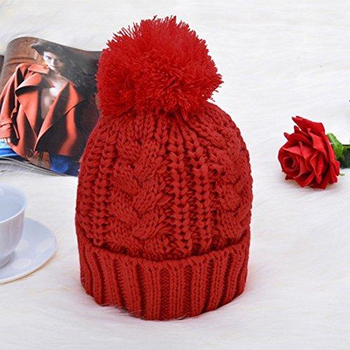OULII Hilado acrílico invierno moda punto bufanda