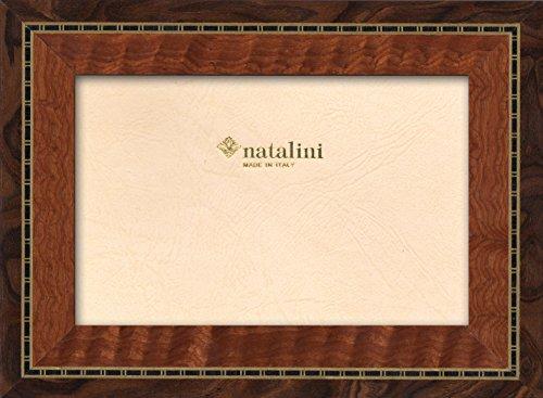 Natalini KRNoce 10X15 Bilderrahmen mit Unterstützung für Tisch, Tulipwood, Nussbaum, 10 X 15 X 1,5