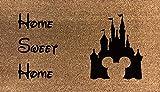 Paillasson Artisan Kiss en fibre de coco Motif Disney 70 x 40 cm, Fibre de coco., Home Sweet Home, 70x40cm
