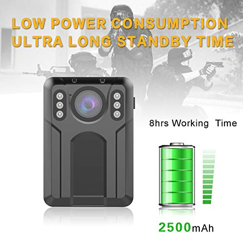 CammPro M1N Mini UHD 1440P Police Body Camera Advanced Video Coding, Night Vision and Waterproof, Premium Surveillance Pocket Body Worn Camera for Law Enforcement, Security Guards