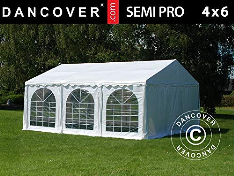 Dancover Marquee Party tent Pavilion SEMI PRO Plus 4x6 m PVC, White