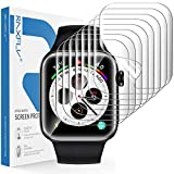 RAXFLY [8 Pack] Screen Protector Compatible with for Apple Watch Series 6/5/4 SE 40mm and Apple Watch Series 3/2/1 38mm Soft TPU HD Full Coverage Screen Protector Clear
