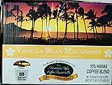Hawaiian Isles Vanilla Bean Macadamia Nut Hawaiian Coffee Blend Compatible Pods 80 Count
