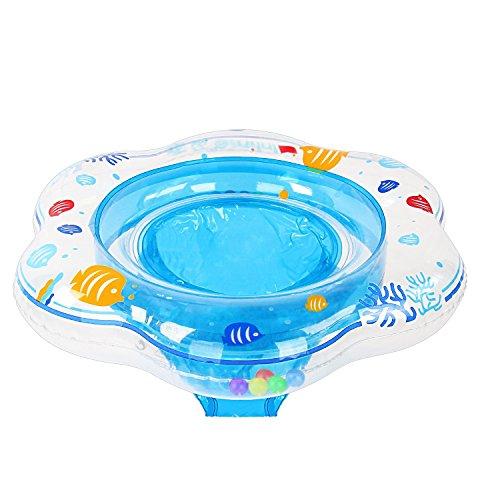 Samione Anillo de natación para bebé, Flotador para bebé con Asiento Ideal para niños Piscina de natación, Bebé Flotador de natación con PVC Apto para la Piel Juguetes para niños Entre 6-36 Meses