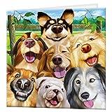 carte de voeux de 3D LiveLife - Selfie canin, carte 3D lenticulaire de chien coloré de Deluxebase, pour tous occasion et âge. Illustrations originales autorisées de l'artiste renommé, Micheal Searle !