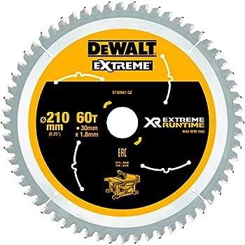 DeWalt DT99567-QZ - Hojas para Sierra Circular Estacionaria XR EXTREME RUNTIME 210mm x 30mm 60D