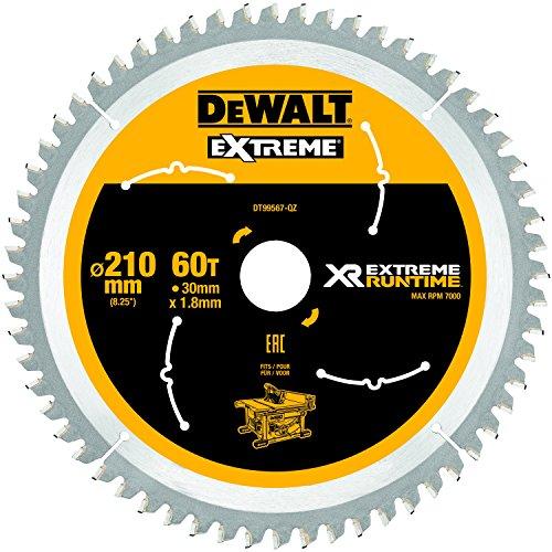 Dewalt XR Extreme Runtime Kreissaegeblatt statisch, 1 Stück, 210/30 mm 60 WZ/FZ, DT99567-QZ
