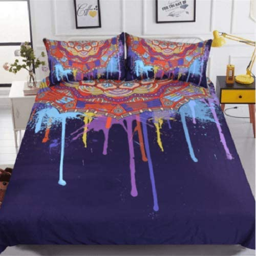 DOAN Watercolor Quilt Bed Set All SEAL limited product Seasons Max 76% OFF for - Suitable