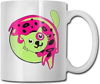 Xarchy tasses à café 11oz drôle tasse de jus de lait ou tasse de thé vert Donut chien anniversaire