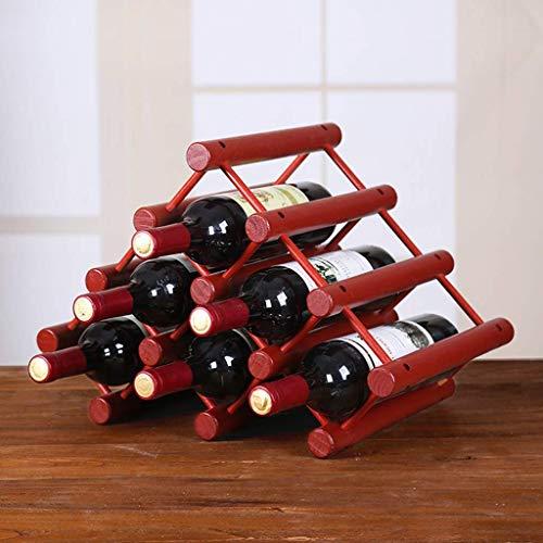XUSHEN-HU Forma encimera Triángulo de Madera de bambú Estante del Vino - Independientes Elegante y Moderna, la Botella sobre la Mesa almacenaje del Vino Ranuras for 6 Botellas. Hogar