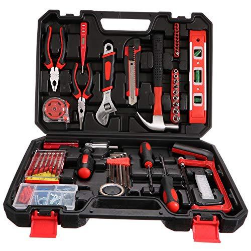 SIXTOL Home - Maletín de herramientas (110 piezas, 4 kg, en maletín de aluminio)