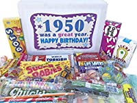 Woodstock Candy 1950 68th Birthday Gift Box - Retro Nostalgic Candy Mix for 68 Year Old Man or Woman Jr. [並行輸入品]