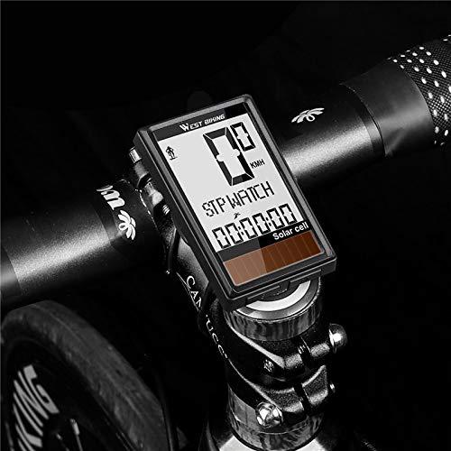 GIAO Computadora para Bicicleta, Cuentakilómetros inalámbrico de Ciclismo de energía Solar Velocímetro...