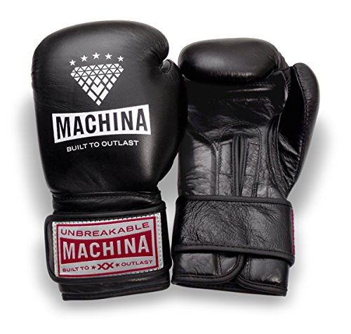 Machina Carbonado 12 OZ Womens Training Gloves - Black Leather