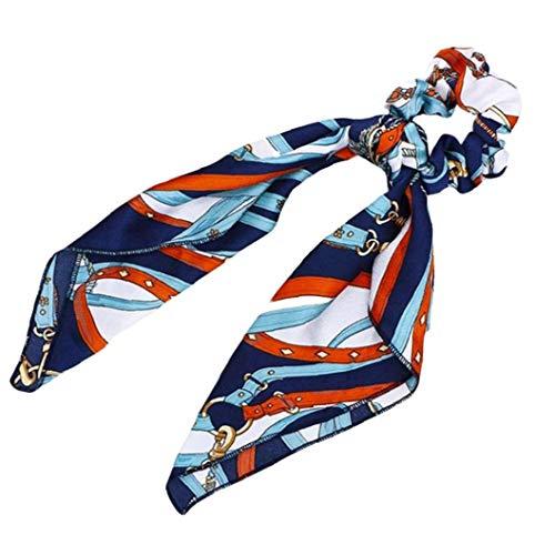 1pc Bowknot Chouchous En Satin De Soie Écharpe Cravate Floral Scrunchie Vintage Holder Cordes Ponytail Pour Les Femmes