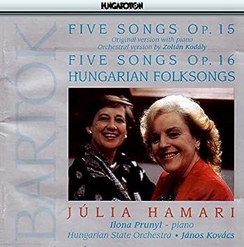 Bartok: 5 Songs / Hungarian Folksongs