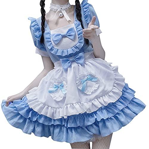 Delantal de anime para mucama Lolita Calabaza Maid Cosplay Japonés Anime Lolita Francesa Sirvienta Disfraz de Cosplay Disfraces de Halloween Disfraces Disfraces de Disfraces con Sombreros